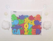 Load image into Gallery viewer, Toyganizer Bath Toy Organizer + 2 Bonus Strong Hooked Suction Cups, White