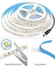 Load image into Gallery viewer, Dimmable LED Strip Lights, MINGER White Strip Light LED Mirror Lights Kit for Vanity Makeup Dressing Table 6000K Bright White Daylight, 300 LEDs, 16.4FT Under Cabinet Lighting Strips for Kitchen - zingydecor