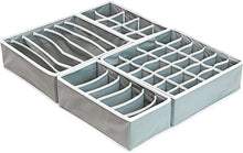 SimpleHouseware Closet Underwear Organizer Drawer Divider 4 Set, Gray - zingydecor