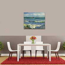 Load image into Gallery viewer, Seascape at Saintes Maries by Vincent Van Gogh Oil Paintings Reproduction Modern Wrapped Giclee Canvas Prints Sea Pictures on Canvas Wall Art for Living Room Home Office Decorations - zingydecor