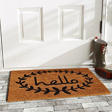"Load image into Gallery viewer, Home & More 121812436 Calico Hello Doormat, 24"" x 36"" x 0.60"", Natural/Black - zingydecor"