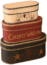 Load image into Gallery viewer, Your Hearts Delight 7-3/4 by 3-1/2-Inch Country Welcome Nesting Boxes, Large - zingydecor