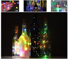 Load image into Gallery viewer, LoveNite Wine Bottle Lights with Cork, Warm White 10 Pack Battery Operated LED Cork Shape Silver Copper Wire Colorful Fairy Mini String Lights for DIY, Party, Decor, Christmas, Halloween,Wedding - zingydecor