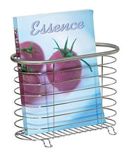 Load image into Gallery viewer, Newspaper and Magazine Rack for Bathroom, Office, Den - Brushed Stainless - zingydecor