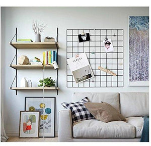 "Hosal Multifunction Grid Panel,Wall Decor/ Photo Wall/ Wall Art Display/ Organizer, Size:23.6"" x 23.6"", Pack of 2 Pcs, Black - zingydecor"