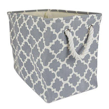 Load image into Gallery viewer, DII Printed Polyester, Collapsible and Convenient Storage Bin To Organize Office, Bedroom, Closet, Kid's Toys, & Laundry - Large Rectangle Lattice - zingydecor