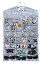 Load image into Gallery viewer, Hanging Jewelry Organizer and Jewelry Display for Classy Women, Perfect Jewelry Holder and Organizer for Chunky Necklaces, Bangle Bracelets, Watches, Sunglasses, Stud Earrings and Rings - zingydecor