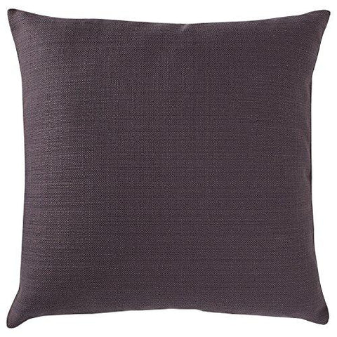 "Stone & Beam Striated Velvet/Linen-Look Pillow, 17"" x 17"", Charcoal"
