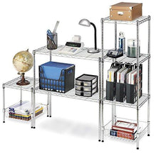 Whitmor Supreme Wide Stacking Shelf, Chrome - zingydecor