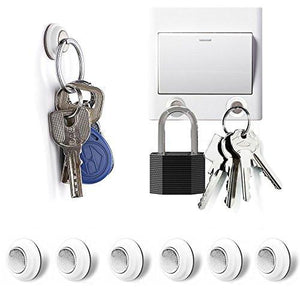 Tescat 6 Packs Magnetic Key Holder, Key Racks - Without Drilling - Easily Installed By Applying Adhesive - zingydecor