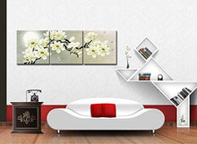 Load image into Gallery viewer, White Magnolia & Butterfly Under the Moon Modern Giclee Canvas Prints Paintings to Photo Printed Artwork for Wall Decor - zingydecor