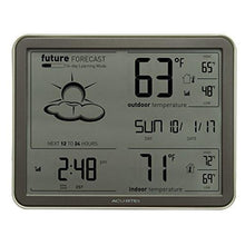 Load image into Gallery viewer, AcuRite 75077 Weather Forecaster with Jumbo Display, Remote Sensor and Atomic Clock - zingydecor