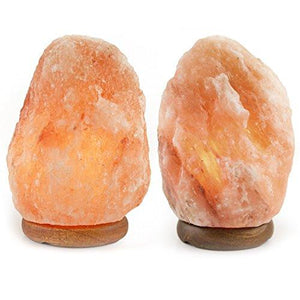 Crystal Allies Gallery CA SLS-S-2pc Natural Himalayan Salt Lamp with Dimmable Switch and 6' UL-Listed Cord (2 Pack) - zingydecor