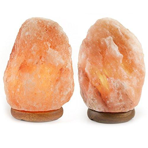 Crystal Allies Gallery CA SLS-S-2pc Natural Himalayan Salt Lamp with Dimmable Switch and 6' UL-Listed Cord (2 Pack)