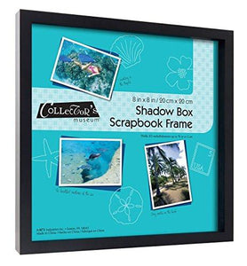 MCS Scrapbook Shadowbox Frame , 8 by 8-Inch, Black (40393) - zingydecor