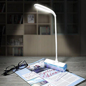Desk Lamp,Walkas Lamp with Message Board Rechargeable LED Reading Lamp Touch Sensor-Blue - zingydecor