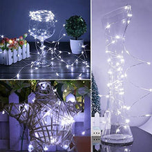 Load image into Gallery viewer, FRIEET Starry String Lights, 12 Pack Fairy Lights Battery Operated, 7.2ft 20LED Christmas Lights Silver Coated Copper Wire Lights Firefly Lights Moon Lights for Party Christmas Decorations(White) - zingydecor