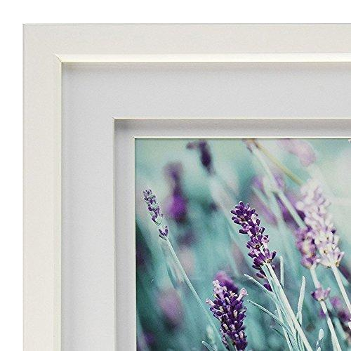 GALLERY SOLUTIONS 8x10 White Wood Frame with Double White Mat For 5x7 Image #12FW1117