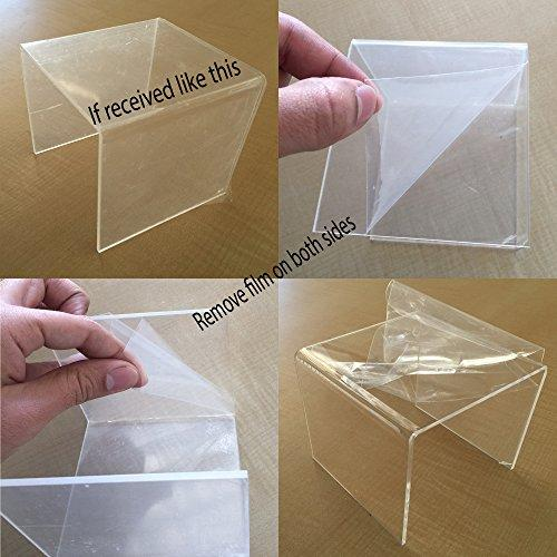 Clear Acrylic Riser Stand Set of Three (3-Inch, 4-Inch, 5-Inch)