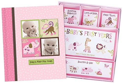 Baby Girl Memory Book Hardcover Record Babys First Five Years Diary Precious Moments Milestone...