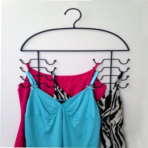 Image of 2 Women's Sport Tank Top, Cami, Bra, Strappy Dress, Bathing Suit, Closet Organizer Hangers - zingydecor