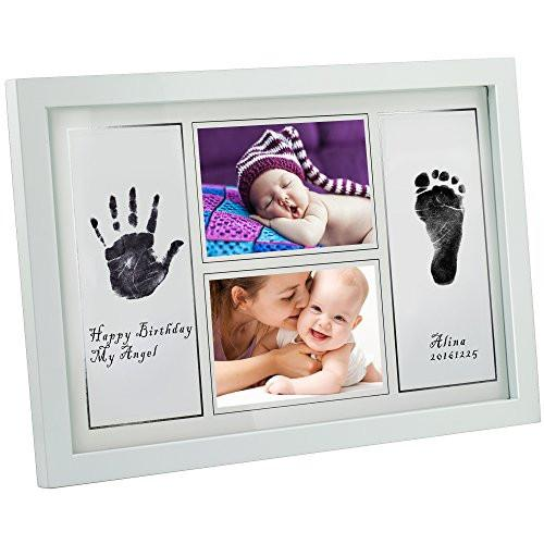"Gimars Large 3.3x5"" Reusable Safety Ink Pad & Glass 4x6"" Babyprints Handprint Footprint Newborn Baby... - zingydecor"