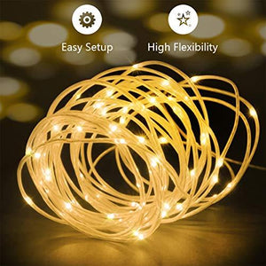 LED Fairy Lights 33ft 100 LEDs Battery Operated String Lights Waterproof Multi Color Changing, Firefly Lights with Remote Control for Indoor,Outdoor,Bedroom,Patio,Wedding,Party Christmas Decorations - zingydecor