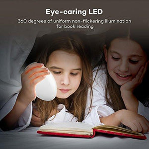 Night Lights for Kids, VAVA Baby Night Light, Bedside Lamp, Safe ABS+PP, Eye Caring LED, Adjustable Brightness and Color, Touch Control, IP65 Waterproof, 80 hours Runtime - zingydecor