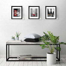 Load image into Gallery viewer, Set of Three 14-inch Floating Wall Shelves by Americanflat, White - zingydecor