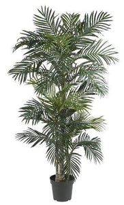 Nearly Natural 5289 Golden Cane Palm Silk Tree, 6.5-Feet, Green - zingydecor