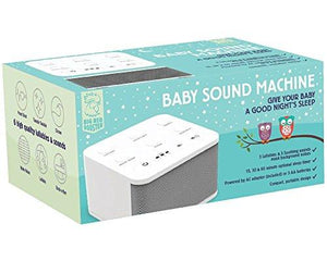 Big Red Rooster BRRC129 Baby Sound Machine with 6 Sounds, White - zingydecor