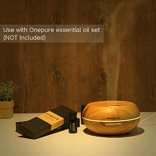 InnoGear Aromatherapy Essential Oil Diffuser Ultrasonic Cool Mist Diffusers with 7 Color LED Lights...