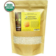 Load image into Gallery viewer, USDA Organic White Beeswax Pellets by Sky Organics (1lb) -Superior Quality Pure Bees Wax No Toxic Pesticides or Chemicals - 3 x Filtered, Easy Melt Pastilles- For DIY, Candles, Skin Care, Lip Balm