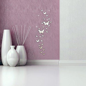 Ussore 30PC Butterfly Combination 3D Mirror Wall Stickers Home Decoration DIY Wall Stickers Decals living...