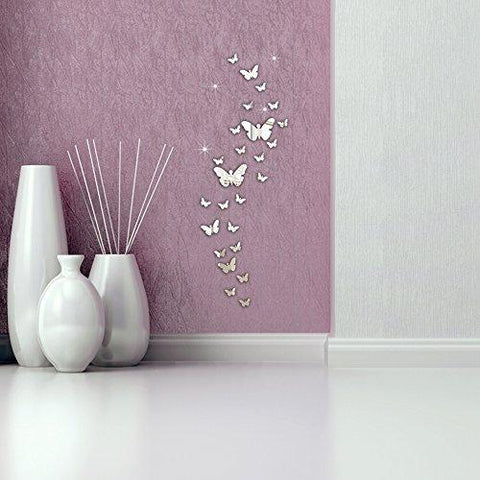 Image of Ussore 30PC Butterfly Combination 3D Mirror Wall Stickers Home Decoration DIY Wall Stickers Decals living...