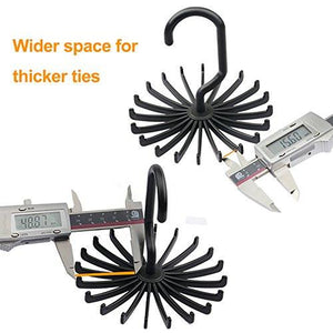2 Pack IPOW Updated Twirl Tie Rack Belt Hanger Holder Hook for Closet Organizer Storage - zingydecor