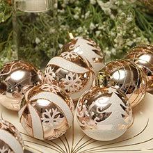 "Load image into Gallery viewer, Sea Team 60mm/2.36"" Delicate Painting & Glittering Shatterproof Christmas Ball Ornaments Decorative Hanging Christmas Ornaments Baubles Set for Christmas Tree - 24 Counts (Blue)"