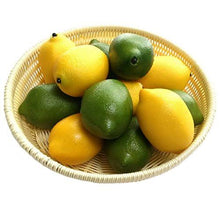 Load image into Gallery viewer, Gresorth 12pcs Yellow & Green Artificial Lifelike Simulation Lemon Fake Fruit Home Kitchen Cabinet Decoration - zingydecor