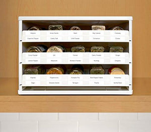 YouCopia 02301-01-Wht Chef's Edition Spicestack 30-Bottle Spice Organizer with Universal Drawers, White - zingydecor