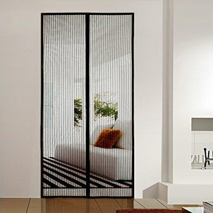 "Homitt Magnetic Screen Door with Heavy Duty Mesh Curtain and Full Frame Velcro Fits Door Size up to 34""-82"" Max - zingydecor"