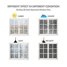 Load image into Gallery viewer, Tulip Privacy Window Film 3D Static Decoration Self Adhesive for UV Blocking Heat Control Glass Sticker (11.8x78.7 Inches)