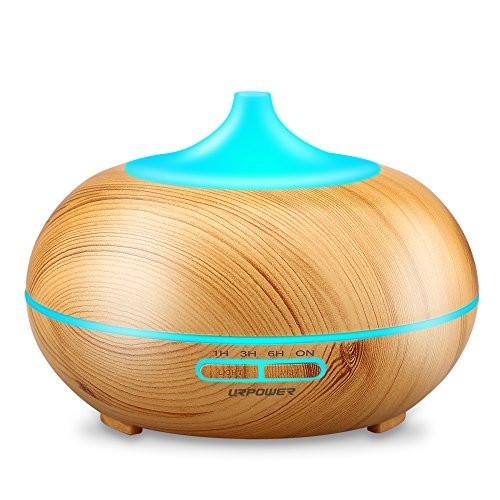Aromatherapy Essential Oil Diffuser, URPOWER 300ml Wood Grain Ultrasonic Cool Mist Whisper-Quiet...