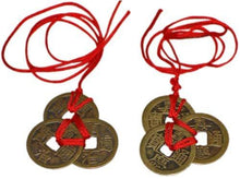 Chinese Feng Shui Coins for Wealth and Success - 2 sets of 3 - zingydecor