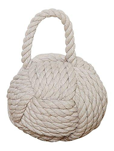Creative Co-Op Rope Knot Door Stop - zingydecor