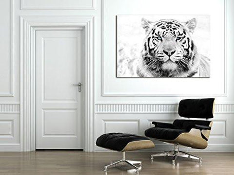 Image of Startonight Canvas Wall Art Daydream Tiger, Animals USA Design for Home Decor, Dual View Surprise Artwork Modern Framed Ready to Hang Wall Art 31.5 X 47.2 Inch 100% Original Art Painting!