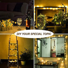 Load image into Gallery viewer, MUMUXI 16 Pack Fairy Lights Battery Operated (Included) 10ft 30 LED Mini String Lights Waterproof Copper Wire Firefly Starry Lights for DIY Wedding Party Mason Jars Christmas Decorations, Warm White