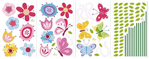 Bright Butterfly Garden Decorative Peel & Stick Wall Art Sticker Decals - zingydecor