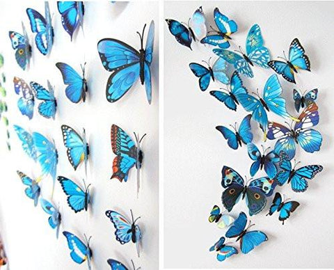 Image of 72 x PCS 3D Colorful Butterfly Wall Stickers DIY Art Decor Crafts For Nursery Classroom Offices Kids Bedroom Bathroom Living Room Magnets And Glue - zingydecor