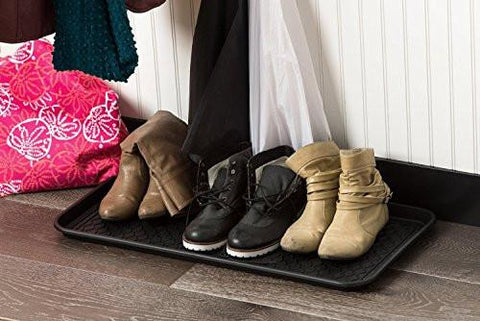 "Image of California Home Goods Multi-Purpose Boot Mat & Tray for Indoor and Outdoor Floor Protection, 30"" x 15"" x 1.2"""