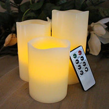 Load image into Gallery viewer, BEST FLAMELESS CANDLES WITH TIMER REMOTE CONTROL, Unscented Flickering Battery Operated Electric Candle for Home Decor, Weddings, Parties and Awesome Gifts - zingydecor